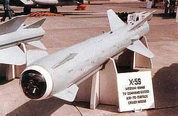 El misil aire-superficie de alcance medio X-59 Gadfly