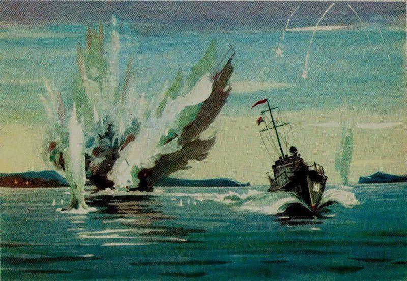 Sowjetische U-Boot-Abwehr während des Krieges