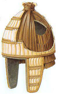 Armor warriors of the Trojan War. Helmets (part three)