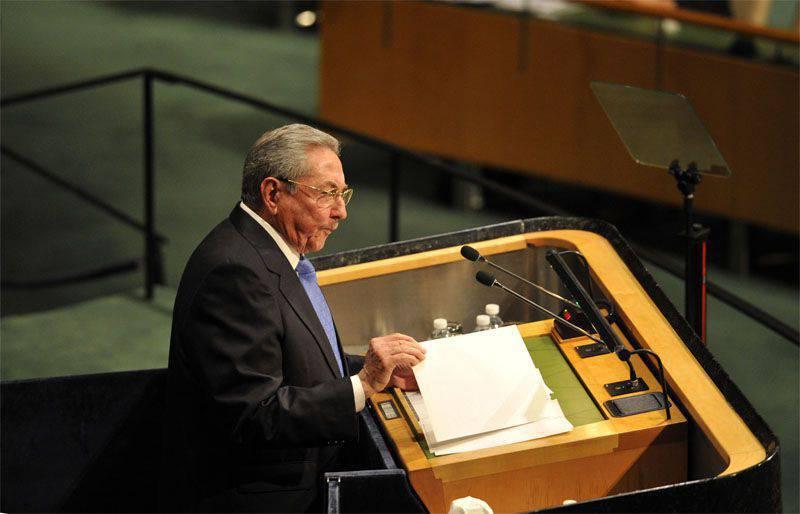 Lors de la session de l'Assemblée générale des Nations Unies, Raul Castro a exhorté les États-Unis à rentrer à Guantanamo et s'est prononcé en faveur de sanctions anti-russes.