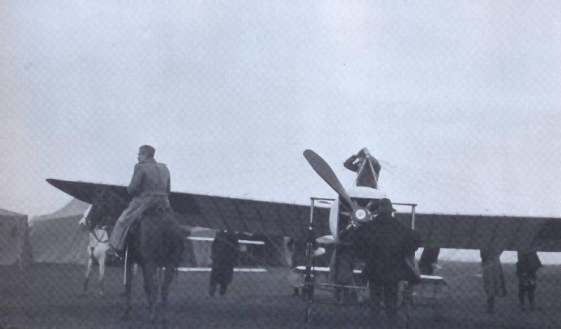 Il primo aereo serbo a Nis, anno 1912