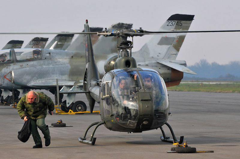 Soko Gazela Armée de l'Air Serbe Moderne
