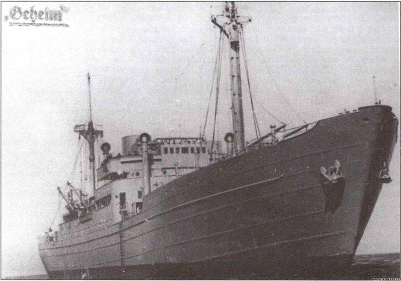 The last German raider, or the Battle of dry cargo