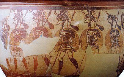 Armes de la guerre de Troie. Spears (cinquième partie)
