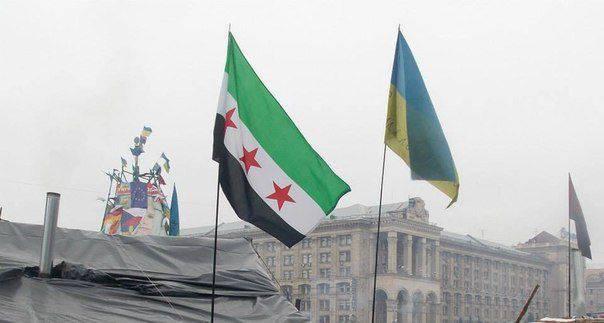 """우크라이나 언론은 """"시리아 야당"""" """"민병대"""""""