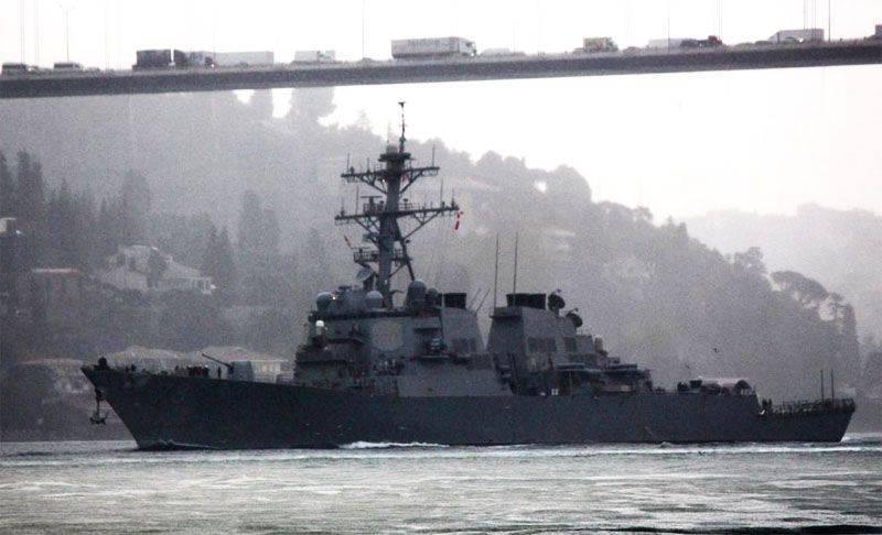 アメリカの駆逐艦ポーターが黒海に入った