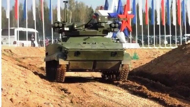 """BMP robotique """"Strike"""" avec le module de combat de Tula"""
