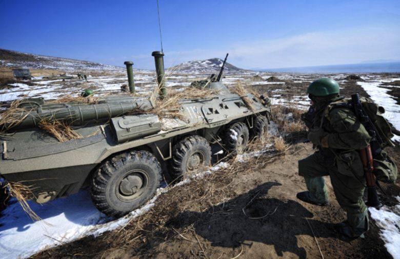 En Primorye, comenzó la enseñanza de los marines.