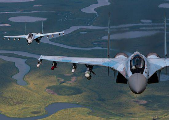 Su-35 performed a complex of flight tactical missions in the sky over the Kuril Islands