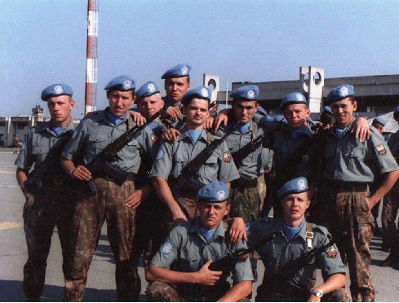 세르비아 크라지나에있는 러시아 평화 유지군