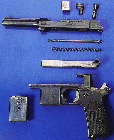 Pistol Bergmann Bayard (Bergmann Bayard) and its variants