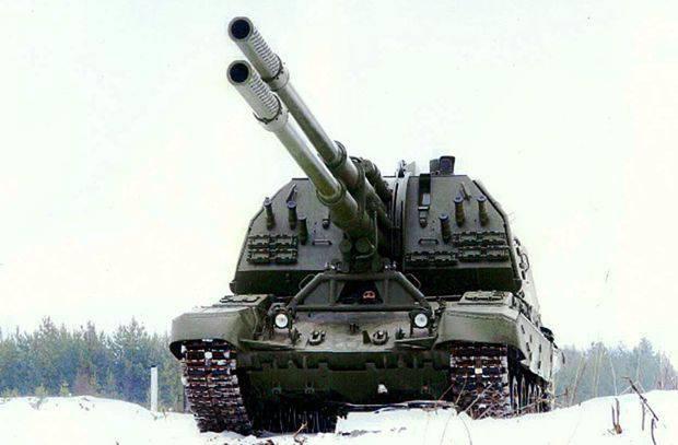 """Un cazador de caza muy grande: un obús autopropulsado de dos cañones """"Coalition-SV"""""""
