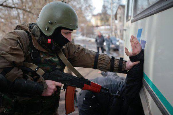 러시아 수도에서 억류 된 극단 주의자 조직의 20 대표