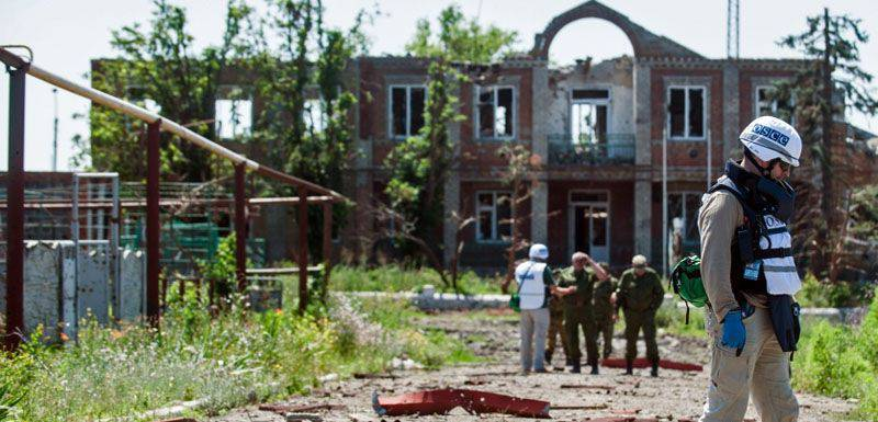 OSCE does not respond to Kiev military equipment to the line of contact in the Donbas