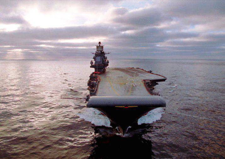 """Admiral Kuznetsov"" shot out on a training goal in the Barents Sea"