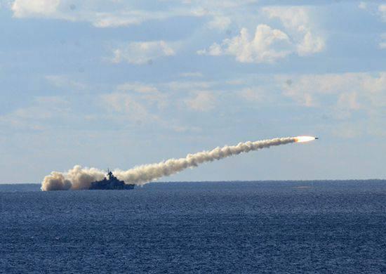 오프 쇼어 크리미아, 바다 표적에서 미사일 발사 함선과 흑해 함대의 연안 부대