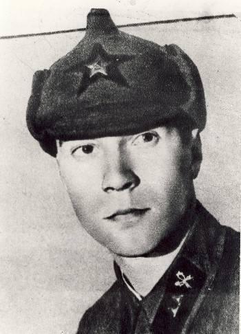 Partigiano ed esploratore Grigory Pushkin