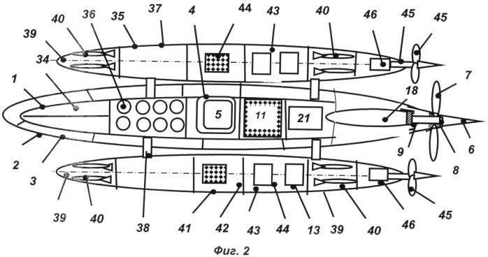 로켓 엔진을 장착 한 핵 잠수함 프로젝트 (RU 2494004 특허)