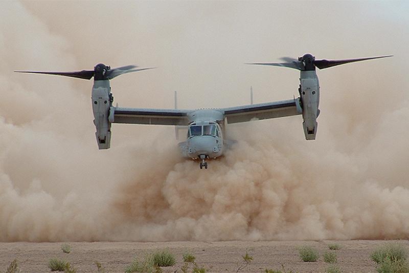 La poussière d'air complique sérieusement le travail de l'aviation dans le désert