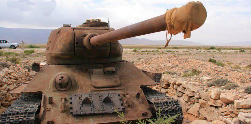 Socotra 섬의 T-34