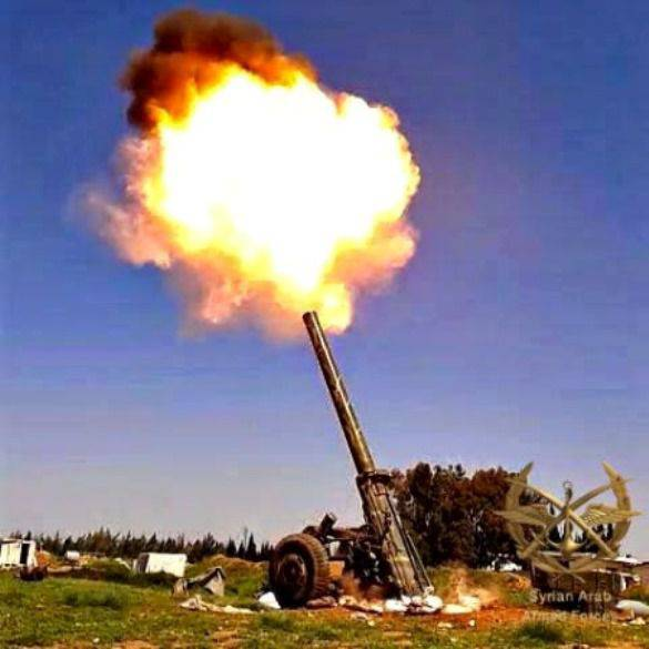 The most powerful mortar in the Syrian army - M-240