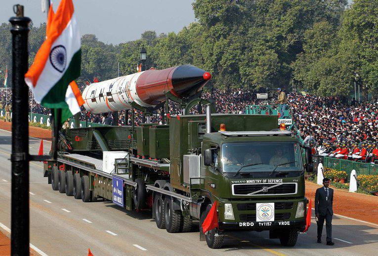 In India, tested ballistic missile Agni-IV