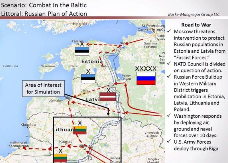 """American war tales: """"How to stop Russians and Belarusians preparing for the invasion of the Baltic states"""""""