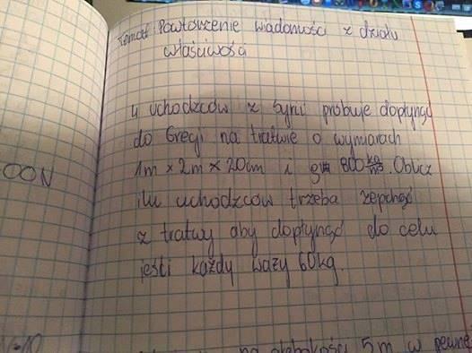 In polnischen Schulen wurde festgelegt, wie viele Flüchtlinge vom Floß gestoßen werden müssen, damit der Rest in die EU gelangt