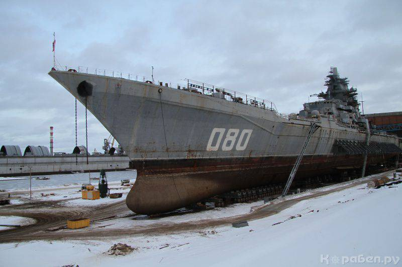 Admiral Nakhimov will be equipped with Fort-M 3М48 complex