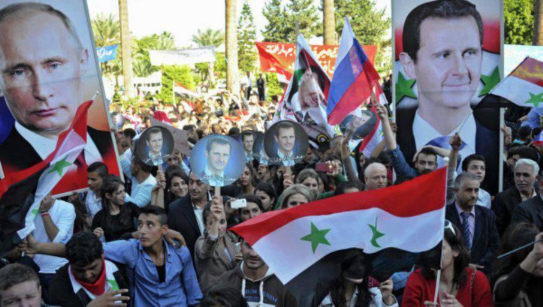 シリア人はロシアとその航空に感謝