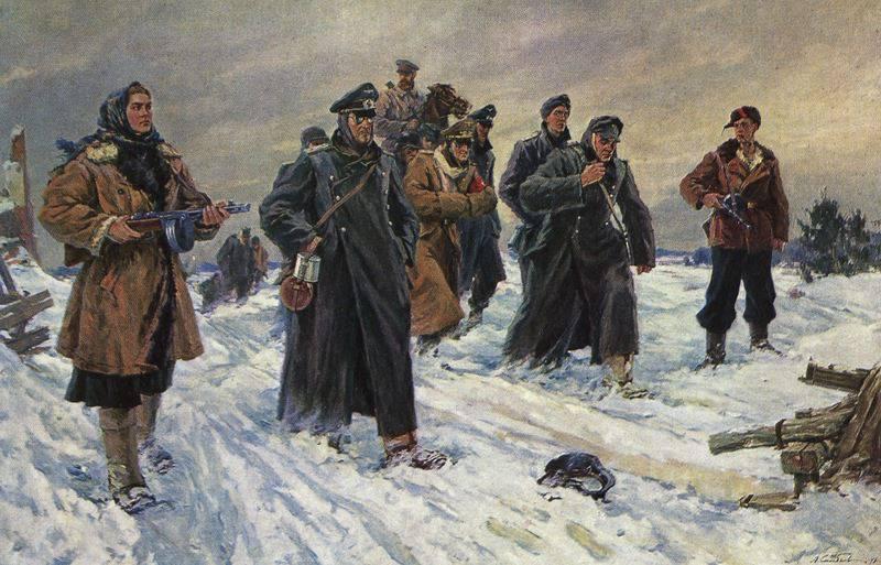 Feuerangriffe sowjetischer Partisanen