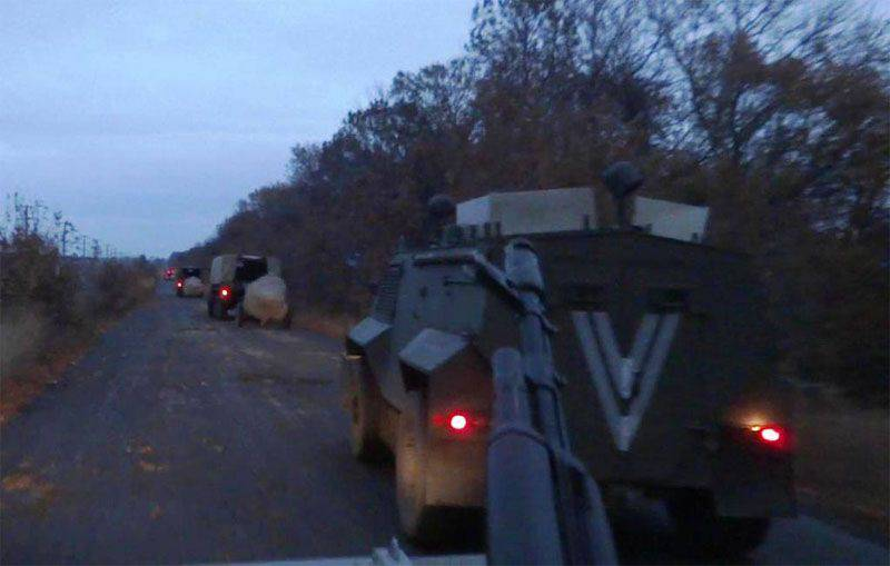 The Armed Forces of Ukraine armed forces conduct maneuvers near the border with the Crimea