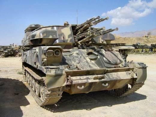 """La légendaire ZSU-23-4 """"Shilka"""" a été transformée en une machine anti-terroriste"""