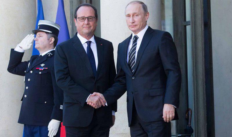 Presidentes da Rússia e da França concordaram em coordenar ações na luta antiterrorista