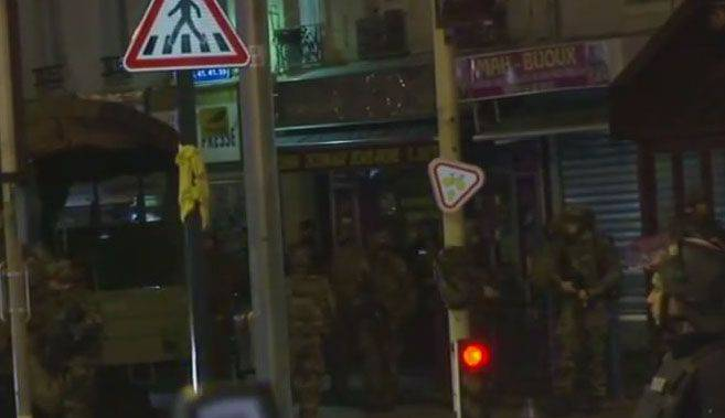 In the Paris suburb of Saint-Denis, a terrorist has detonated an explosive device