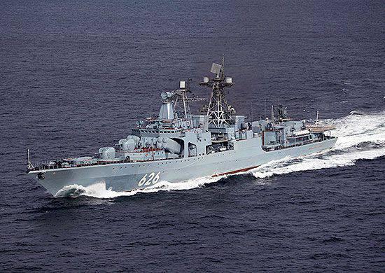 """BOD """"Vice-Almirante Kulakov"""" entrou no Mar Vermelho"""