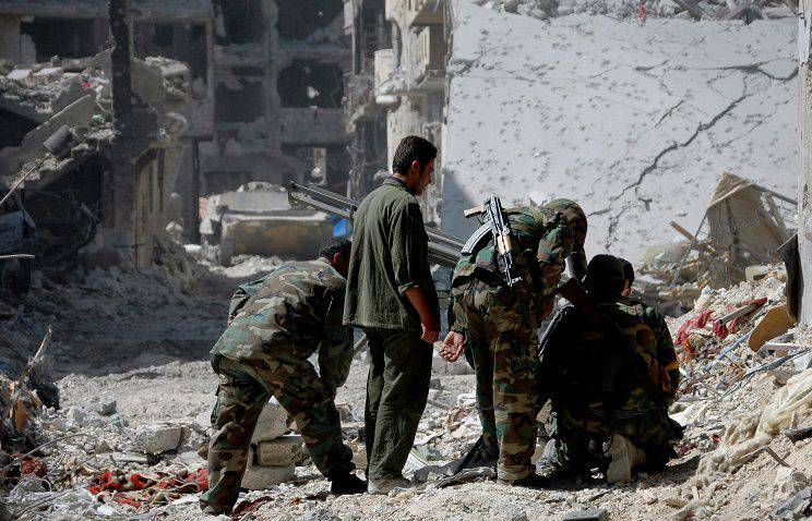 In the Syrian province of Homs, the city of Mkhin is liberated from terrorists