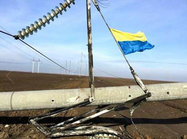 Wladimir Putin sagte, dass die Energieblockade der Krim mit der stillschweigenden Zustimmung des offiziellen Kiew ist