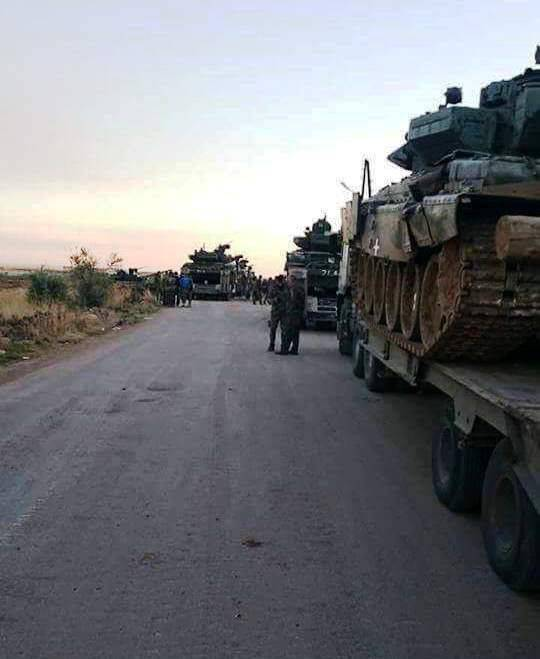 T-90A tanks in Syria