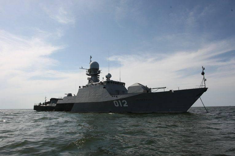 Three IRCs of the Caspian Flotilla took to the teachings
