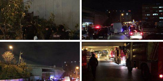 The explosion at the metro station Bairapasha in Istanbul