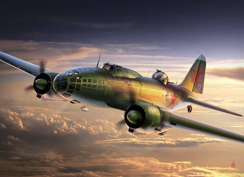 空中作战的远程航空兵在机场摧毁纳粹飞机