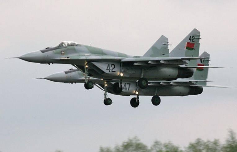 Planta bielorrusso deu ao Ministério da Defesa dez reparado MiG-29