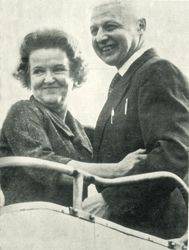Morris and Leontine Coens. Return to Moscow. October 1969 of the year. Photo courtesy of the author