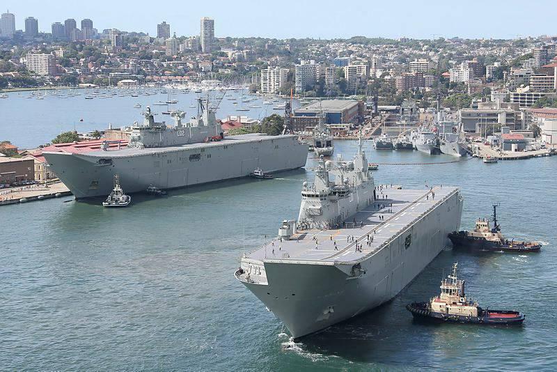 Le deuxième navire de débarquement a été mis en service en Australie