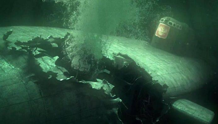 핵의 죽음은 대양 바닥에서 잔다.