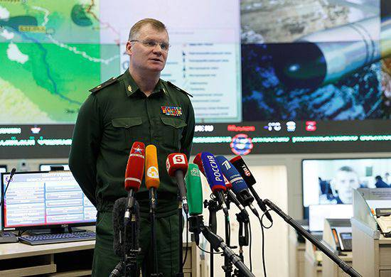 General Konashenkov spoke about the actions of the Russian Aerospace Force of the Russian Federation in Syria over the past day and sharply criticized the actions of the American coalition