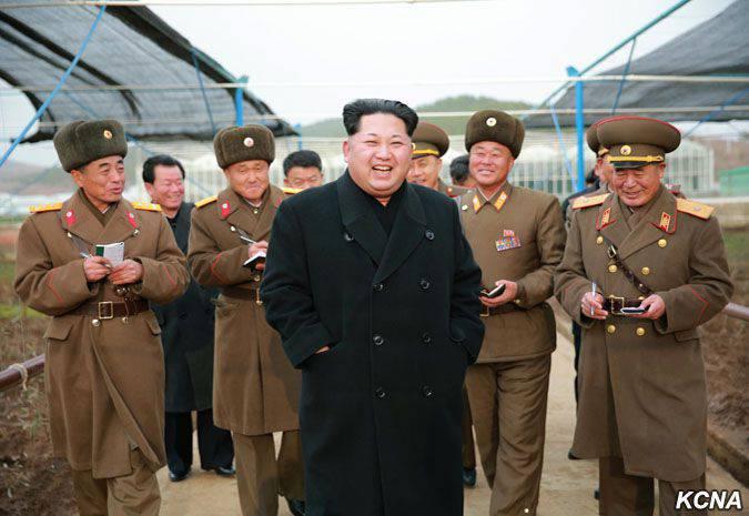 조선 민주주의 인민 공화국의 지도자는 수소 폭탄의 방위 무기 보유를 발표했다.