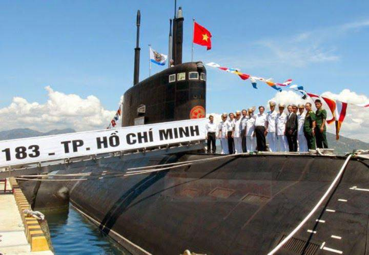 Another submarine is preparing to be shipped to Vietnam