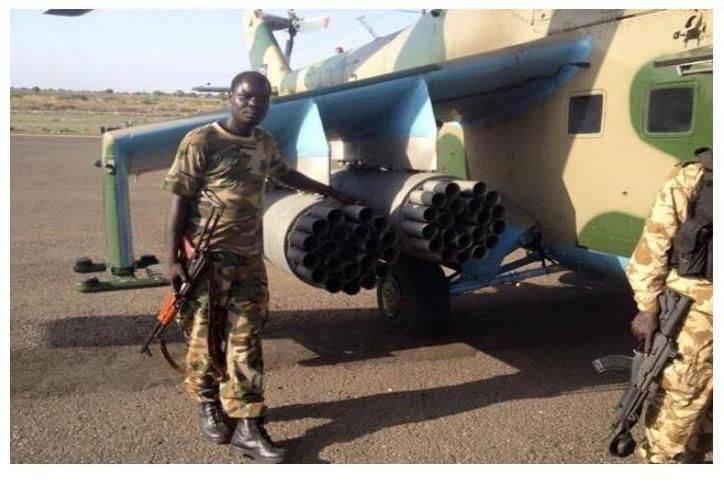 Uganda tacitamente enviado Mi-24 comprado na Rússia para o Sudão do Sul